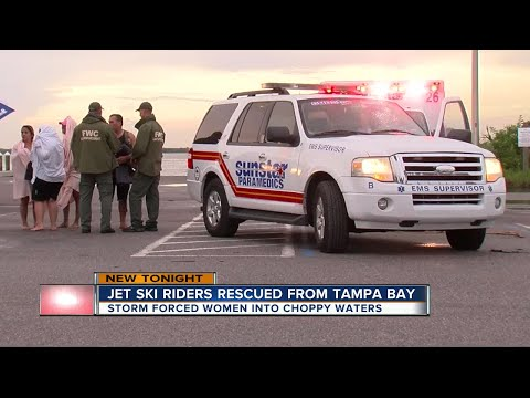 Jet ski riders rescued from Tampa Bay
