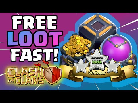 Clash Of Clans How To Get FREE GOLD & DARK ELIXIR   FAST ONE MILLION LOOT COMBINED (NO GEMS)