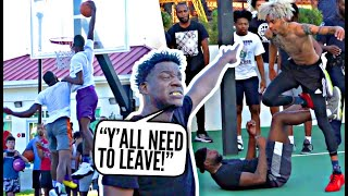 Streetball Legend GETS HEATED vs Ballislife Squad!! They CALLED US OUT So We SHUT THE PARK DOWN!
