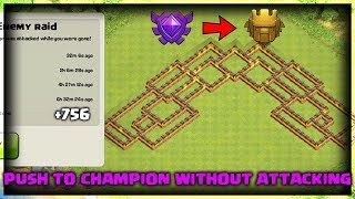 Best Th8 trophy base | Push to Champion League without attacking | Clash of Clans