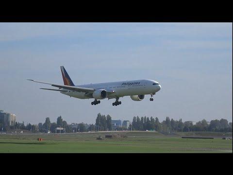Philippines Airlines Boeing 777-300ER | Plane Spotting Arrivals (1080HD) | Crosswind Landings |
