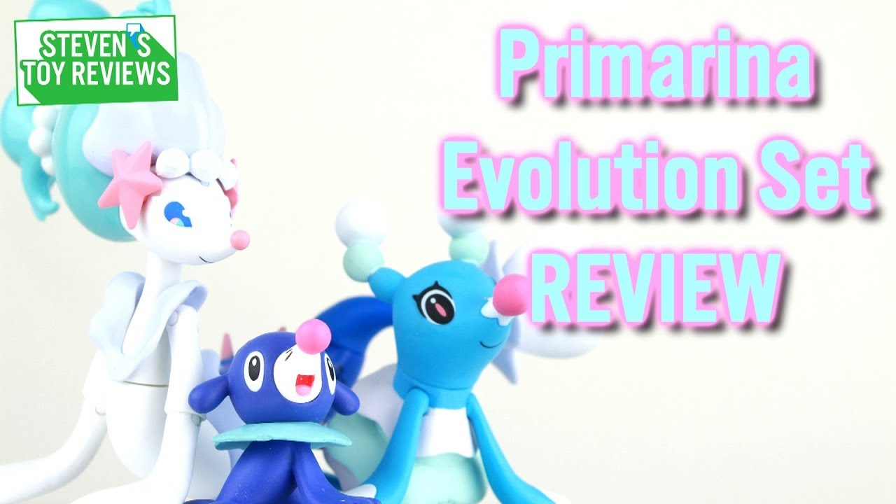 Pokemon Tomy Primarina Evolution Set Review Popplio Brionne Youtube