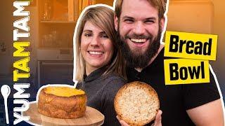 SUPPE IM BROT? // Bread Bowl mit Champignons, Lauch & Cheddar // #yumtamtam
