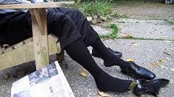 Black Cubed:  Dress Shoes, Gold Toe Socks, Loafers