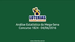 Análise Estatística Mega Sena 1824