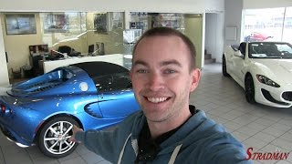 Test driving a Laser Blue Lotus Elise!