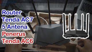 Gambar cover Unboxing & Konfigurasi Awal Router Tenda AC7 Powerfull Dual Band Dengan 5 Antena