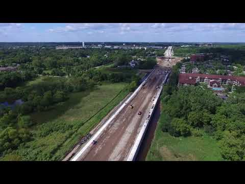 HIGHWAY 169 CONSTRUCTION (Drone Footage) WEST METRO TWIN CITIES MINNESOTA