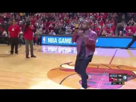 Kanye West Performs All Day During a Timeout Cavs VS Bulls Game 4 Playoffs