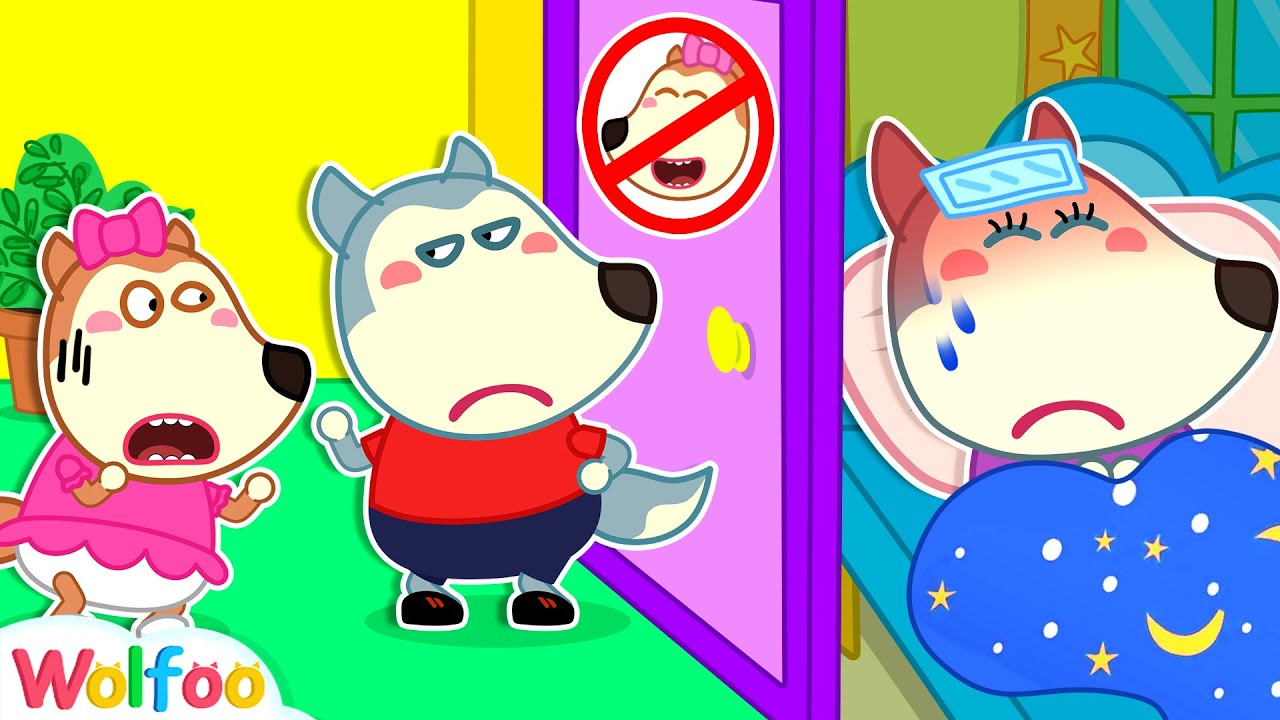 Download Stop, Lucy! Mommy Got Sick and Needs Rest - Kids Stories About Wolfoo Family | Wolfoo Channel