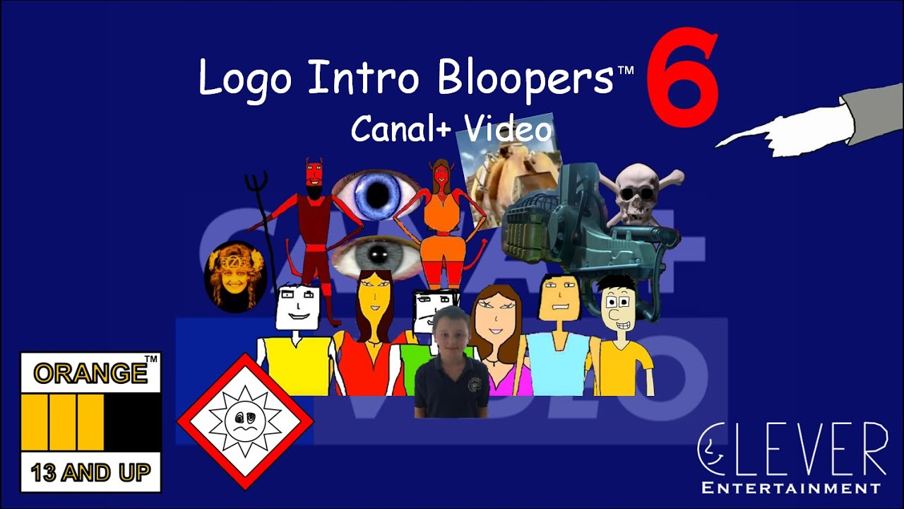 logo intro bloopers 6 canal video youtube