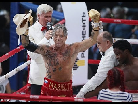 Mickey Rourke Boxing Face