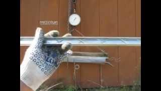Теплица. Профиль зигзаг для теплицы . Испытание.(Профиль зиг-заг для крепления тепличной плёнки., 2013-06-14T08:02:16.000Z)