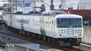 【武蔵野線】485系ジョイフルトレイン「華」・185系 回送列車・205系 西船橋~船橋法典