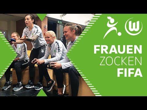 Bundesliga Frauen zocken FIFA 18   VfL Wolfsburg Frauen