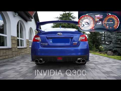 Subaru WRX STI 2015 - INVIDIA Q300 vs STOCK EXHAUST