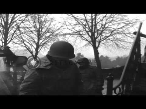 U.S. Lieutenant General George S. Patton visits U.S. Army VIII Corps headquarters...HD Stock Footage