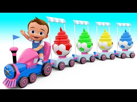 Thumbnail: Learn Colors for children with Chuchu train Ice cream soccer ball cups colours for kids educational