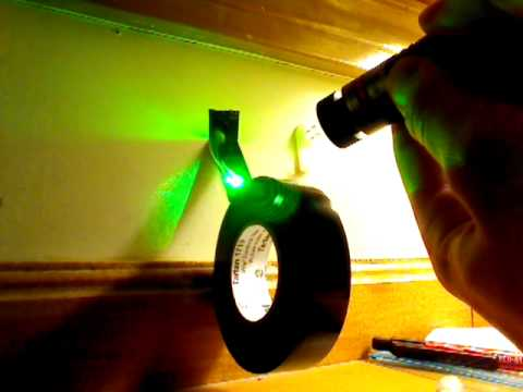 Cutting Tape with 5mw Green Laser!! HD Video