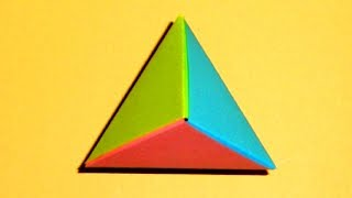 How to Origami a five intersection tetrahedra  WonderHowTo