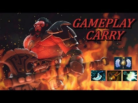 AXE SAFELANE CARRY  Ranked Gameplay Commentary Divine Dota 2