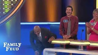 Steve meets Ted! | Family Feud