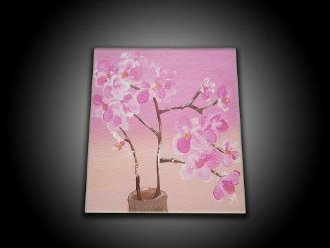 Easy Cherry Blossom Painting Using Acrylic