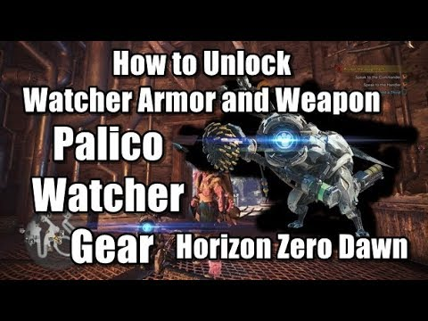 How to Unlock Horizon Zero Dawn Watcher Armor and Weapon in Monster Hunter World