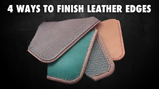 Four ways to fiฑish edges | Leather crafting tutorial
