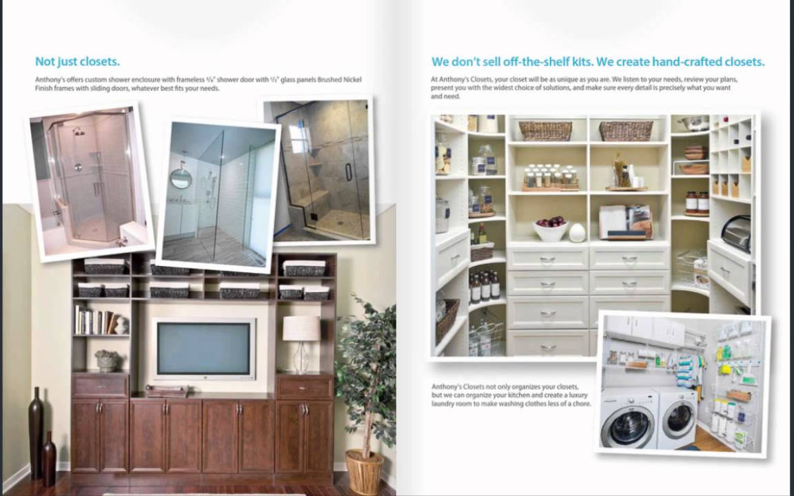 Anthonyu0027s Closets, Shower Doors And More Brochure