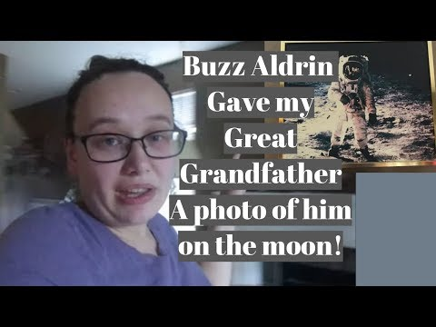 My Grandfather has a Original  photo of Buzz Aldrin on the Moon🌕