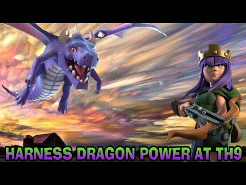 HARNESS DRAGON POWER AT TH9 CLASH OF CLANS