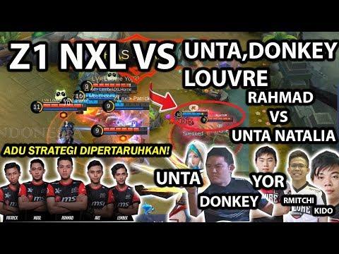 TEAM Z1 NXL VS UNTA NATALIA,DONKEY BERSAMA TEAM LOUVRE YG BARU! BIG MATCH DUEL ADU STRATEGI!