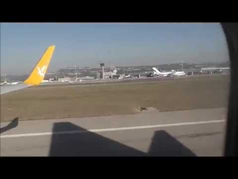Pegasus Flight PC403 from Istanbul landing at Marseille Airport , France