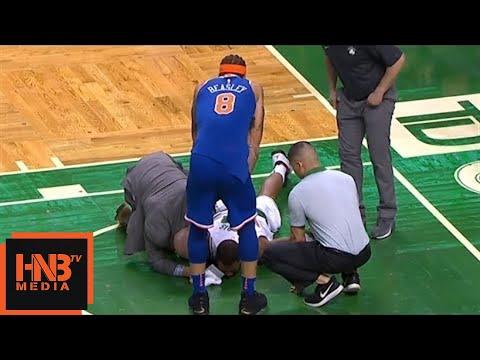 Marcus Morris Hard Fall / Injury / Celtics vs Knicks