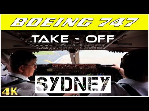 Cockpit View Boeing 747 Take-off HD