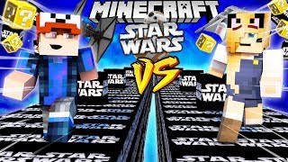 SZALONY WYŚCIG! - STAR WARS LUCKY BLOCKI MINECRAFT! (Lucky Block Race) | Vito vs Bella