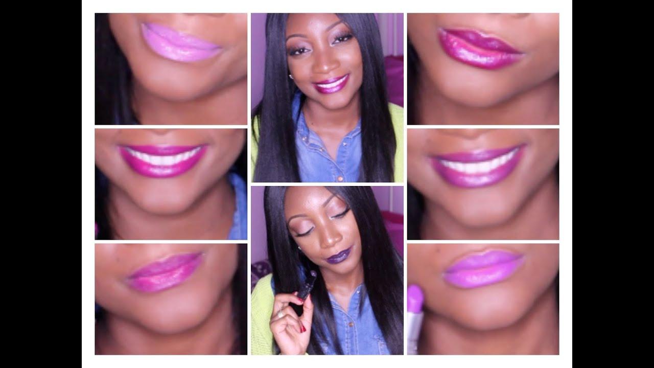 Purple Lipsticks On Darkskin Youtube