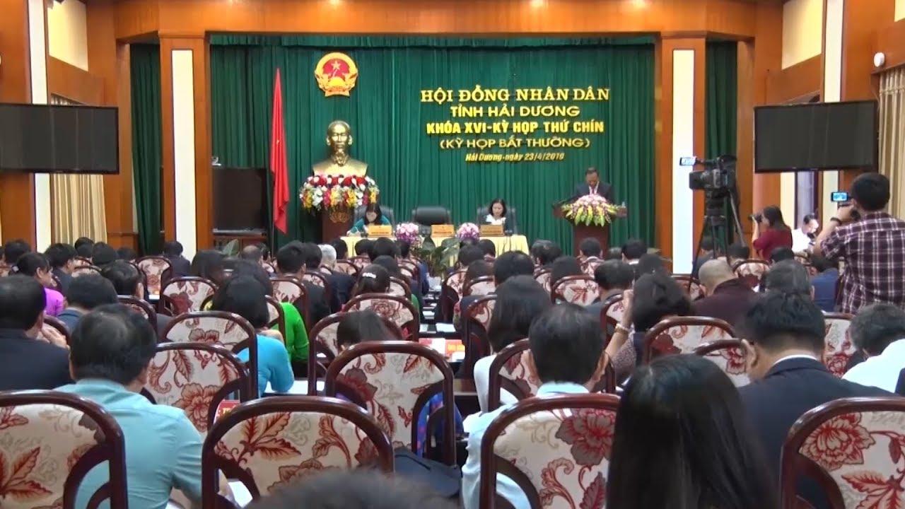 Kỳ họp thứ 9 (Kỳ họp bất thường) HĐND tỉnh Hải Dương khóa XVI