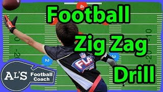Youth Football Zig Zag Drills | Youth Football Drills