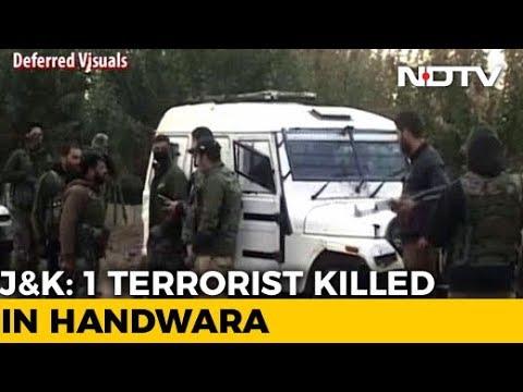 Terrorist Killed in Jammu And Kashmir's Handwara, Heavy Firing On