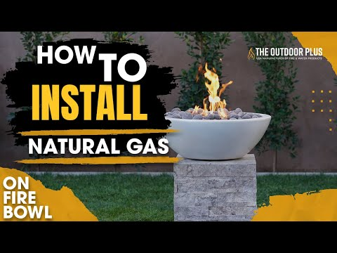 Fire Bowl Installation | Match Lit | Natural Gas