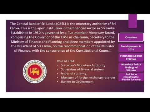Monetary Policy of Sri Lanka