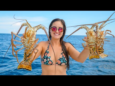 DIVING For LOBSTERS! CATCH Clean & COOK!- Florida's BEAUTIFUL Reefs!