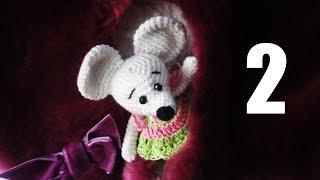 Вязаная Мышь Ч 2/4  Mouse Crochet P 2/4