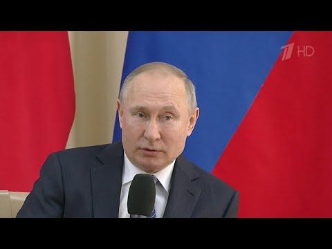 Владимир Путин провел встречу с представителями делового сообщества.