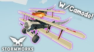 Biplane Dog Fight!  -  Camodo  -  Multiplayer  -  Stormworks: Build and Rescue