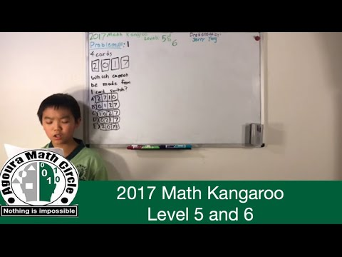 Math Kangaroo 2017 Levels 5 And 6 Solutions Presented By Jerry Yang