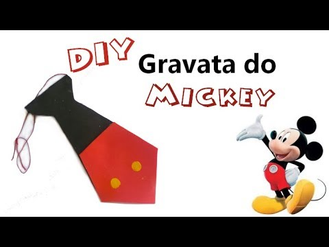DIY - Gravata do Mickey em E.V.A - YouTube a4f91782af5