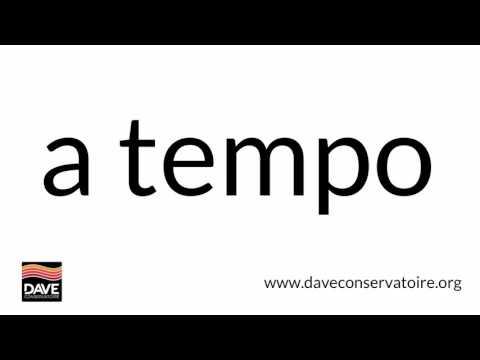 A tempo | Dave Defines